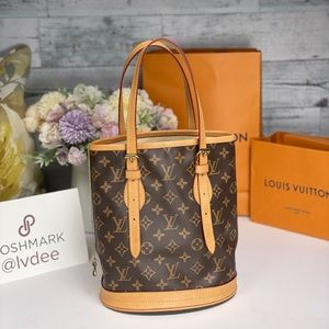 🎊 HP 🎊Auth LOUIS VUITTON Bucket PM Tote handbag